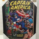MARVEL COMICS CAPTAIN AMERICA CANVAS WRAP ON WOOD NEW