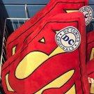 Six Flags Magic Mountain DC Comics Superman Shield Red Big Pillow Plush New