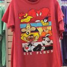 Six Flags Magic Mountain Looney Tunes Puzzle Character Red Shirt New