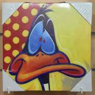 Six Flags Magic Mountain Looney Tunes Daffy Duck Canvas Wrap on Wood New