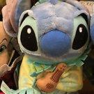 "DISNEY PARKS BABY LILO & STITCH WITH BLANKET & GUITAR PLUSH STUFF ANIMAL 10"""