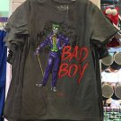 Six Flags Magic Mountain DC Comics Harley Quinn I Heart My Bad Boy Gray Shirt