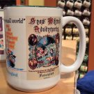 DISNEY PARKS VINTAGE POSTER ART SNOW WHITE IT'S A SMALL WORLD CERAMIC MUG NEW