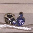 Disneyland Diamond Celebration Disney Pandora Mickey Mouse Sparkling Blue Ear Hat Silver Charm New