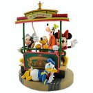 Disney Parks Medium Big Figurine 35th Anniversary Fab 5 on Trolley NEW IN BOX