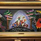 Disneyland 60th Diamond Celebration Toad Mural LE Canvas Print by Kurt Raymond