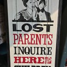 DISNEY PARKS DISNEYLAND LOST PARENTS INQUIRE HERE FOR CHILDREN WOOD PLAQUE