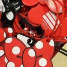 Disney Parks Iconic Minnie Mouse Polka Dot Bow Luggage Tag New