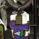Six Flags Magic Mountain DC The Joker with Face Metal Keychain New