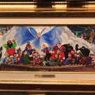 Disneyland 60th Diamond Celebration Pinocchio Mural LE Canvas Kurt Raymond New