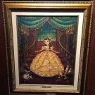 Disney Parks Princess Belle Lumiere Cogsworth LE Framed Giclee by John Coulter