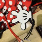 Disney Parks Iconic Mickey Mouse White Glove Luggage Tag New