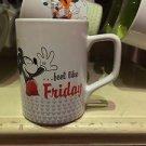 Disney Parks Mickey Mouse Ceramic Mug Mickey Makes Monday Feel Like Friday New