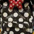 Disney Parks Minnie Mouse Bow Sequin Polka Dot Backpack New