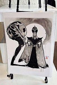 NEW Disney WonderGround Gallery Jafar in Desert Snake Postcard Richard Peter Han