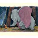 Disney Parks Dumbo's Treat Feat. Timothy Deluxe Print by Randy Noble New