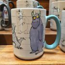 Disney Parks Monsters Inc Sketch Art Sulley Ceramic Mug Cup 16oz. New