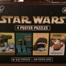 Disney Parks Exclusive Star Wars Poster Puzzle 500 Pieces Each, 4 Puzzles In Box