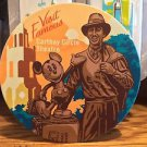 Disney Parks Classic Poster Ceramic Coaster Walt Disney and Mickey Mouse New