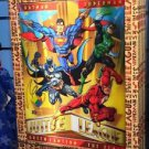 Six Flags Magic Mountain DC Comics Justice League Superman Batman 3-D Poster New