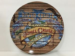 "Disney Parks Plate Jungle Cruise Attraction Poster 7"" Ceramic Plate New"
