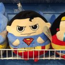 Six Flags Magic Mountain DC Batman Superman Wonder Woman Big Pillow Plush New