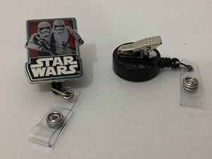 Disney Star Wars Stormtrooper Retractable Badge ID Holder Swivel Alligator Clip