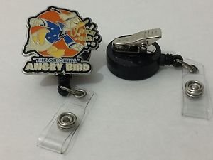 Disney Donald Duck Angry Bird Retractable Badge ID Holder Swivel Alligator Clip