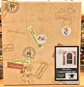 Disney Parks Main Street Window Resin Picture Photo Frame 5x7 New In Box