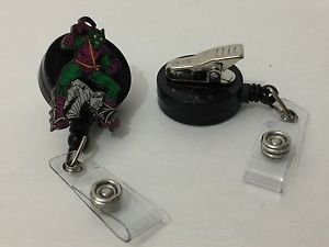 Disney Marvel Green Goblin Retractable Badge ID Holder w/ Swivel Alligator Clip