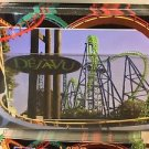 Six Flags Magic Mountain Dejavu Attraction Postcard New