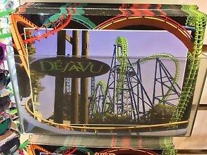 Six Flags Magic Mountain Dejavu Attraction Postcard New