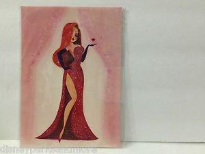 Disney WonderGround Gallery Jessica Rabbit Postcard by Liana Hee RARE NEW