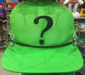 Six Flags Magic Mountain The Riddler Green Mesh Adjustable Snapback Hat Cap New