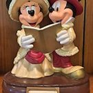 Disney Parks Mickey and Minnie Mouse Victorian Christmas Medium Figure New