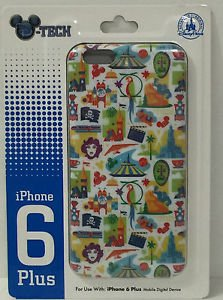 DISNEY PARKS D-TECH DISNEYLAND ATTRACTION COLLAGE IPHONE 6 PLUS 6s CASE NEW
