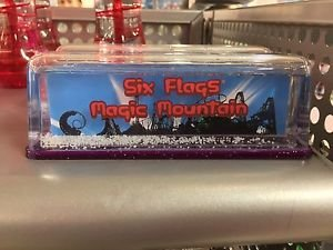 Six Flags Magic Mountain Lettering Snow Globe New