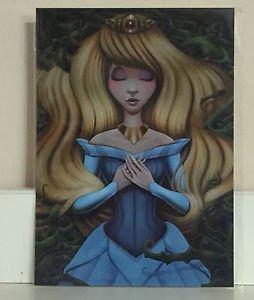 Disney WonderGround Sleeping Beauty Aurora Cursed Postcard Shannon Bonatakis NEW