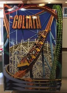 Six Flags Magic Mountain Goliath Attraction Postcard New