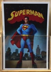 Six Flags Magic Mountain DC Comics Superman Postcard New