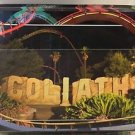 Six Flags Magic Mountain Goliath Sign Attraction Postcard New