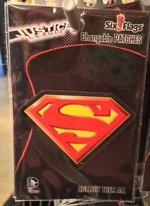 Six Flags Magic Mountain DC Comics Changeable Patches Superman Shield New