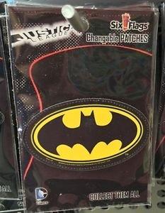 Six Flags Magic Mountain DC Comics Changeable Patches Batman Logo New