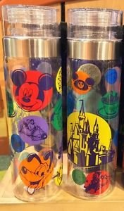 Disney Parks Mickey & Attractions Screen Art Clear Sports Bottle New