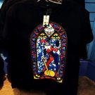 Six Flags Magic Mountain Harley Quinn On Stained Glass Shirt XS,M,L XL,XXL New