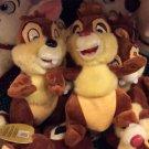 Disney Parks Chip & Dale Plush Toy Set Chipmunk Pals Stuffed Animals New