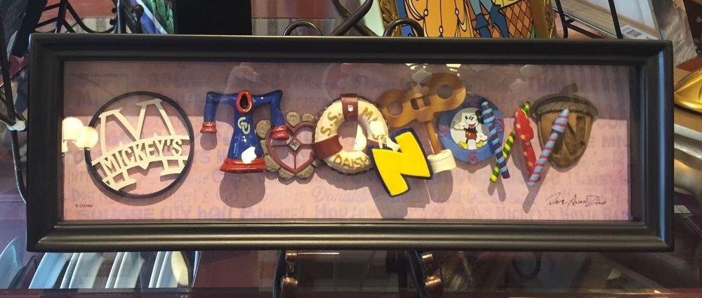 Disneyland 60th Diamond Celebration MICKEY'S TOONTOWN Shadow Box Dave Avanzino