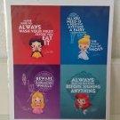Disney WonderGround Life Lessons from Princesses Postcard Jerrod Maruyama RARE