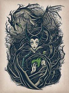 Disney WonderGround Gallery Maleficent Postcard by Dave Quiggle NEW