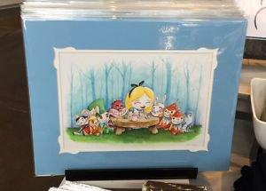Disney WonderGround Gallery Alice In Wonderland Print By Chris Uminga NEW